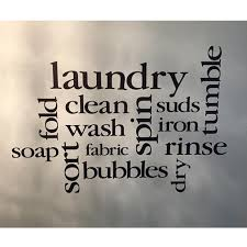 Laundry Room Collage Vinyl Wall Decal Laundry Subway Art Sticker