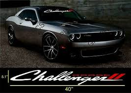 Dodge Challenger Windshield Decal Sticker Vinyl Ebay