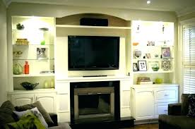 tv built in wall cabinet