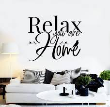Vinyl Wall Decal Lettering Phrase Relax Home Interior Stickers Mural Wallstickers4you