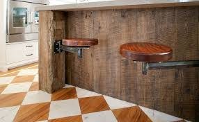 reclaimed wood kitchen island stools