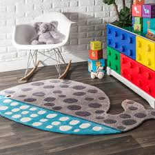 Shop Nuloom Cute Animal Whale Shaped Kids Nursery Grey Rug 3 X 5 7 3 X 5 7 Overstock 10610435