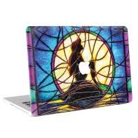 Stained Glass Of The Little Mermaid Macbook Skin Decal