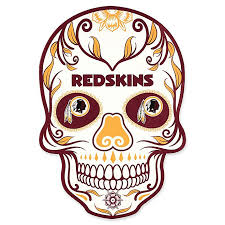 Nfl Washington Redskins Outdoor Dia De Los Muertos Skull Decal Bed Bath Beyond