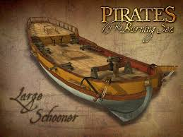 large schooner pirates of the burning sea