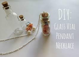 glass vial pendant necklace
