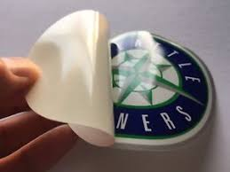 Baseball Seattle Mariners Full Color Inside Window Decal Sticker New Ebay