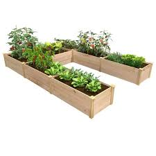 Greenes Fence 8 Ft X 8 Ft X 16 5 In Premium Cedar U Shaped Raised Garden Bed Rcusb The Home Depot