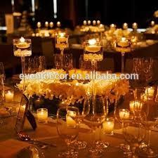 pillar candle holder clear glass