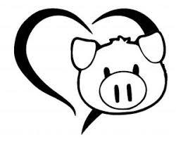Custom Vinyl Car Decal Cute Pig Love Heart Silhouette Face Snout Emoji Ebay