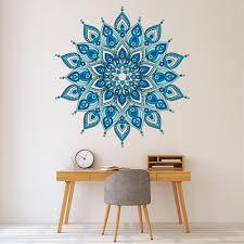 Blue Mandala Design Wall Decal Sticker Ws 50570 Ebay