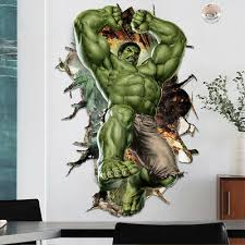 3d Hulk Fist Wall Sticker Superhero Avengers Wall Decals Kids Boys Room Decor 5 99 Picclick