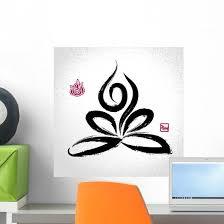 Yoga Lotus Pose And Wall Decal Wallmonkeys Com