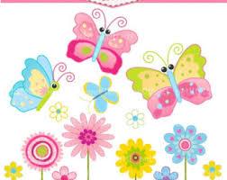 erflies and flowers