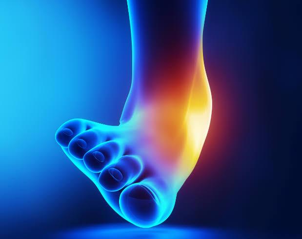 足首捻挫【外反】内側の痛み