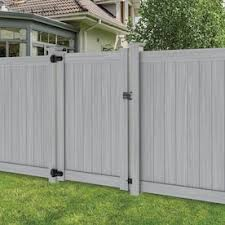 Freedom Hampton 6 Ft H X 5 Ft W Woodgrain Gray Vinyl Flat Top Fence Gate In The Vinyl Fence Gates Department At Lowes Com