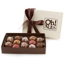 gourmet chocolate truffles gift box