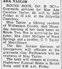 Obituary for Ada Caroline TAYLOR (Aged 82) - Newspapers.com