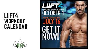 the liift4 workout calendar