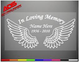 Wings Memory Loving Vinyl Decal Personalized Angel Two Cross Sticker Cross 418 6 95 Picclick