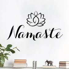 Namaste Lotus Yoga Meditation Wall Art Sticker Ebay