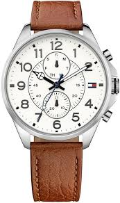 1791274 casual sport leather strap watch