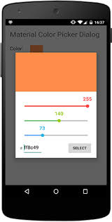 android color picker stack overflow