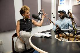 Jenna Wortham with her podcast co-host, Wesley Morris. (The New York Times)  - ASHARQ AL-AWSAT English Archive