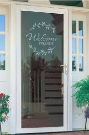 Welcome Friends Glass Storm Door Decal To Welcome Your Etsy Glass Storm Doors Storm Door Storm Door Makeover