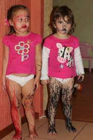 O M G!!! I think these two had a little too much fun with markers. Lol |  Funny pictures, Funny kids, Funny cute