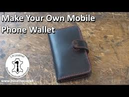 own leather mobile phone wallet