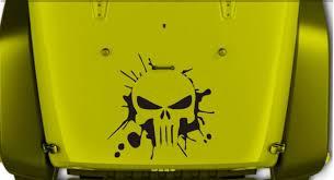 Product Jeep Wrangler Splash Punisher Vinyl Hood Decal Jk Jku Lj Tj 23 X 23