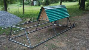 Two Level A Frame From Repurposed Chain Link Fence Top Rail Backyard Chickens Learn How To Raise Chickens