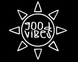 Good Vibes Sun Vinyl Sticker Greshams Powersports