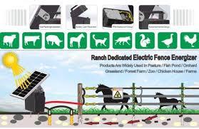 China Solar Powered Electric Fence Energizer China Electric Fence System Electric Fence