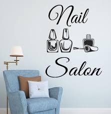 Nail Salon Logo Wall Sticker Naisl Polish Art Wall Decal Manicure Design Beauty Salon Decor Vinyl Nail Art Window Decal Wish