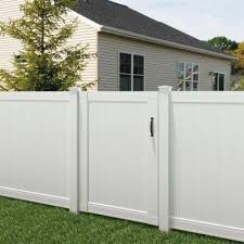 Veranda Pro Series 4 Ft W X 6 Ft H White Vinyl Woodbridge Privacy Fence Gate 118677 The Home Depot Fence Design Vinyl Fence Cheap Privacy Fence