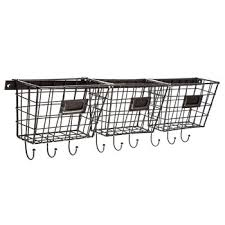 metal wall baskets with hooks hobby
