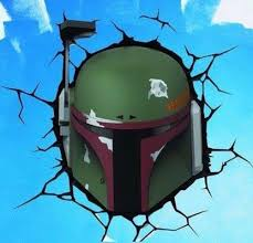 Star Wars Boba Fett Breaking Through Wall Color Vinyl Decal Color Viny Collector S Heaven