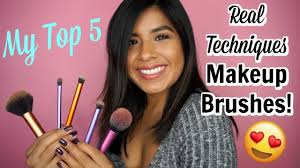 my top 5 real techniques brushes my