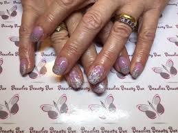 nexgen nails with glitter by beauliezbeauty