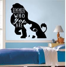 The Lion King Disney Cartoon Wall Decal Simba Lion Nursery Etsy