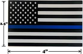 Amazon Com Thin Blue Line Black White And Blue Flag Decal Car Stickers American Flag Support Police And Law Enforcement Uv Resistant Weatherproof 4 X 2 5 Set Of 4 Spy Spot Automotive