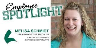 Employee Spotlight: Melisa Schmidt Q:... - Landmark Services Cooperative |  Facebook