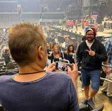 Eddie Van Halen at a Tool concert in Oct 2019 taking pic of a Tool fan, who  has no idea it's Eddie : pics