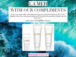 la mer 3 piece free gift with purchase