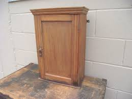antique wood medicine cabinet