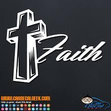 3d Cross Faith Religious Car Decal Sticker