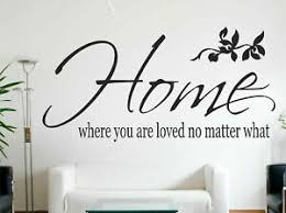 Home Where You Are Loved No Matter What Wall Quote Wall Sticker Art Decal 4894462176276 Ebay