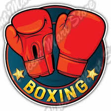 Boxing Gloves Boxer Ring Fight Pads Car Bumper Window Vinyl Sticker Decal 4 6 Ebay